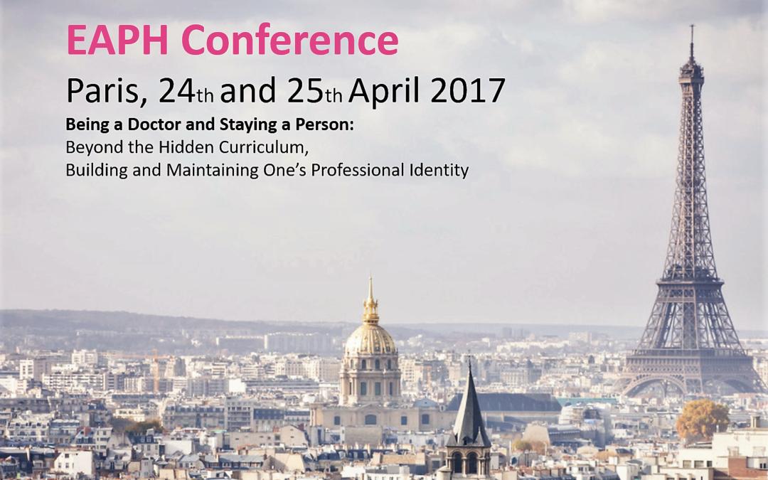 Participation à la conférence EAPH 2017 à Paris
